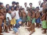 PNG beach crowd